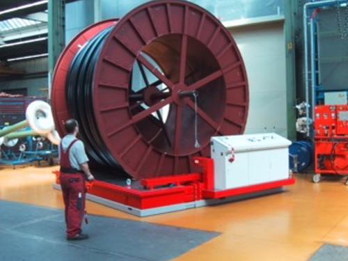 01_Projekt_Kabel Industrie_50 t Trommel_Luftkissen funkgesteuerte_pic 1