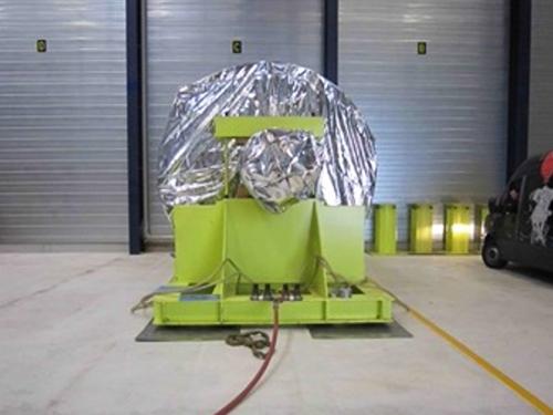 """02_Projekt_Flugzeug Industrie_100 t Verschiebung_Turbinenl""""ufer_Luftkissen_pic 2"""